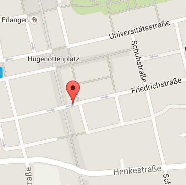 Karte Erlangen